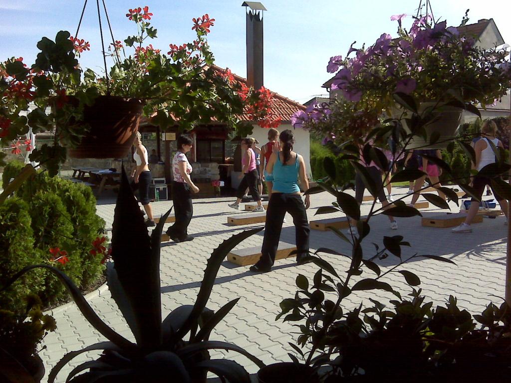 Holky a květiny....záplaty na džíny...